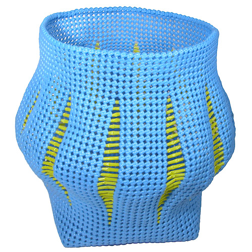 Recycled Plastic Wastebasket from India
