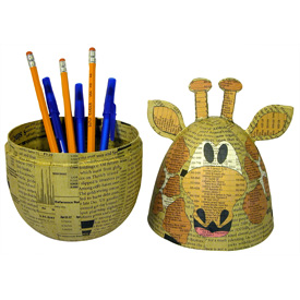 Paper Mache Giraffe Box handmade by artisans in   the Philippines