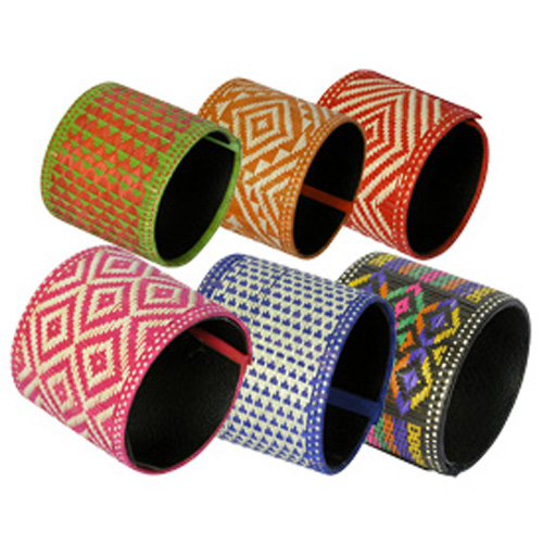 Multiple Extra Large Colored Canaflecha Bracelets Handmade By S In Colombia
