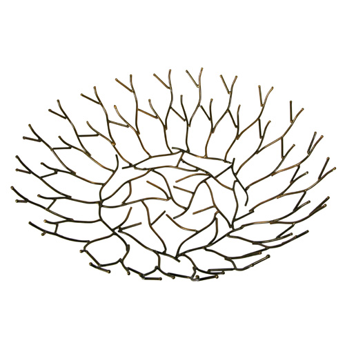 Recycled Metal Twig Design Bowl from India Fair Trade Handmade