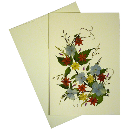Floral greeting cards from el salvador handmade fair trade bouquet handmade floral greeting card made by woman artisans in el salvador measures 6 78 in tall x 4 34 in wide m4hsunfo