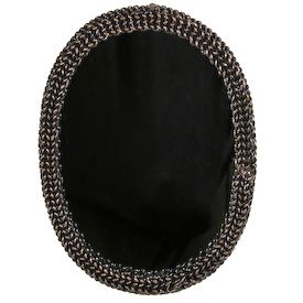 Oval Mirror made of Woven Chain Mirror Measures 5 wide x 7 high