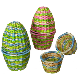 Egg Basekets made of Abaca Fiber - Set of 2<br width=275 >Fair Trade and Handmade in the Philippines