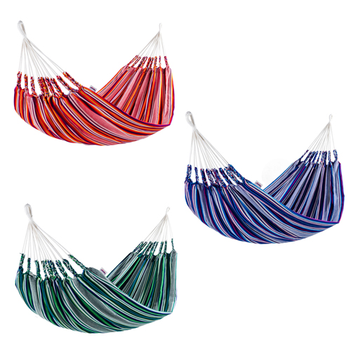 double sized hammocks woven of 50  cotton  u0026 50  acrylic fair trade and imported from ecuador woven cotton hammock from ecuador double fair trade handmade blue      rh   oneworldprojects