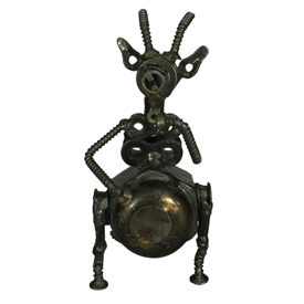 """Junkyard Goat Crafted by Artisans in India<br/ width=275 >Measures 4"""" high x 2"""" wide x 2"""" deep"""