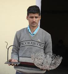 Khalil Ahmed Shows Off Some of his Metal Work
