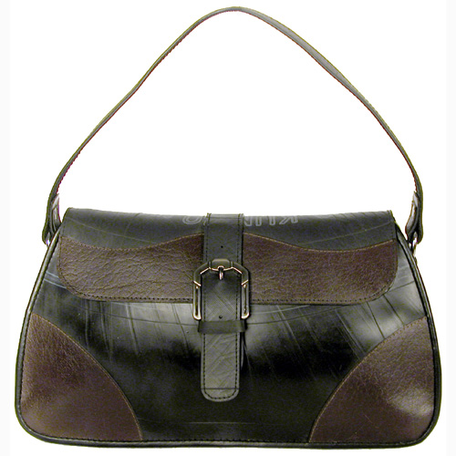 f4232c2f0e2a Medium Tire Tube Handbag w  Buckle Flap and Coffee Accents br width 275
