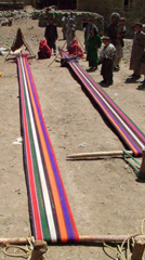 Zardozi Artisans Weaving Cloth