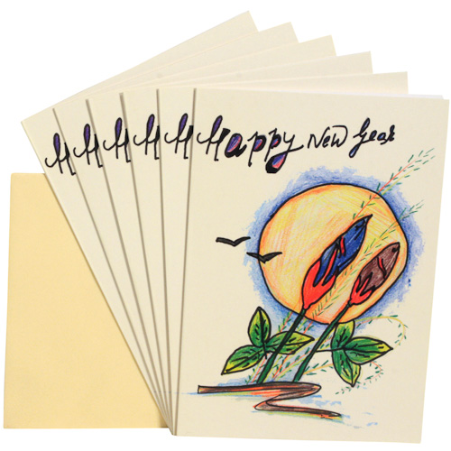 happy new year gift cards package of 6 measures 6 34 x 4 34