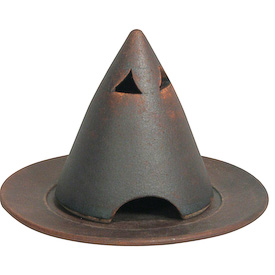 "Cone-Shaped Incense Cone Burner Crafted by Artisans in India   Measures 4"" high x 4-3/4"" diameter"