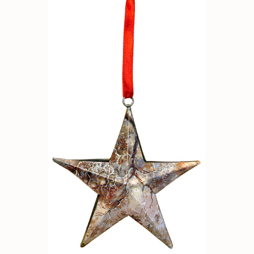 Recycled metal stars from india fair trade handmade
