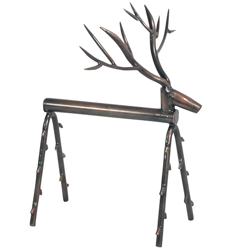 Metal Reindeer Sculpture Made Of Bicycle Chain Crafted By Artisans In India  Stands 8u201d High X 6u201d Long X 7 Wide At Antlers