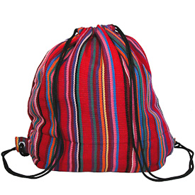"Sling Bag, Backpack  Crafted by Artisans in Guatemala  Measures 13-1/2"" high x 10"" wide x 4-1/2 deep"