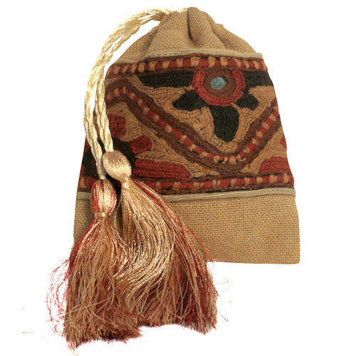 Gold Drawstring Bag from Pakistan | Fair Trade | Handmade ...