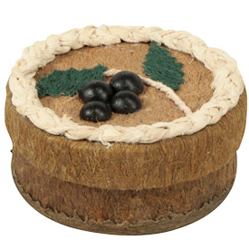 """Circular Corocho Box  Crafted by Artisans in Bolivia  Measures 1-1/2"""" high x 2-3/4"""" diameter"""