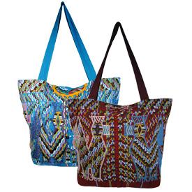 Guatemala Huipil Cotzal Assorted Shoulder Bags   Measures 14 high x 18 wide x 5 deep