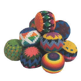 Hacky Sacks - Knitted and Handmade in Guatemala Measures: 2-1/4 in diameter