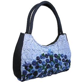 Rococo Handbag made in Guatemala - Blue Luna<br width=275 > Measures 12 wide x 10 high