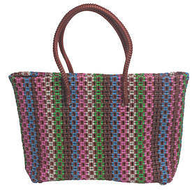 Recycled Plastic Tote - Multi Colors Measures: 11 high x 16 wide x 4 deep