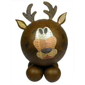 Paper Mache Reindeer Decor handmade in the Philippines