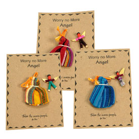 Assorted Worry Doll Angels handmade in Guatamala