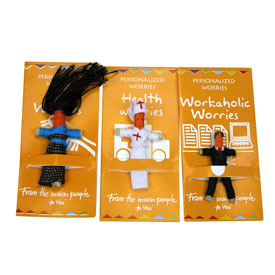Worry Doll Messanger Cards handmade in Guatemala