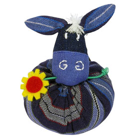 Plush Donkey Ornament handmade in Guatemala