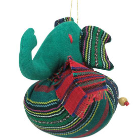 Plush Elephant Ornament handmade in Guatemala