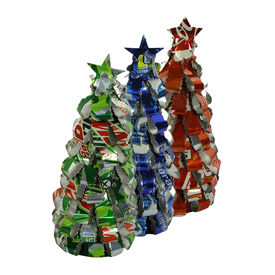 Recycled Soda Can Trees handmade by artisans in Guatemala