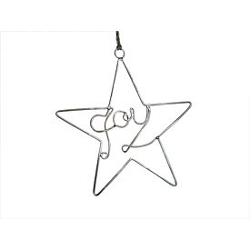 Recycled Wire Joy Star Ornament handmade in India
