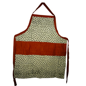 Dotted Design Mud Cloth Apron handmade by artisans in Mali Chic