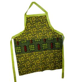 Printed Design Mud Cloth Apron handmade by artisans in Mali Chic