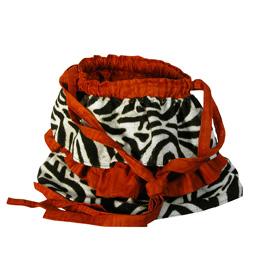 Ruffle Design Shoulder Bag handmade in Mali Chic