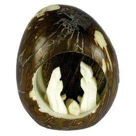 Smaill Tagua Nut Nativity<br width=275 >Handmade by Camari Artisans of Ecuador