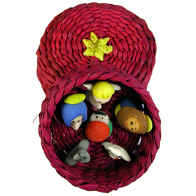 Mini Basket Nativity Handmade by Camari Artisans in Ecuador