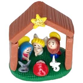 Mini Dough House Nativity Handmade by Camari Artisans in Ecuador