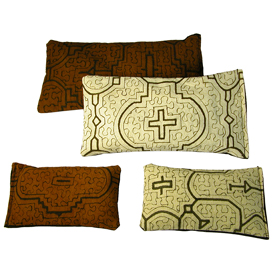 Shipibo Handmade Herbal Eye Pillows and Sachets with Lavender, Flax, and other Aromatic Herbs