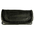 Maria Jose - Large Clutch made of Recycled Tire Tube Measures: 12 in. wide x 6 in. high x 3/4 in. deep.