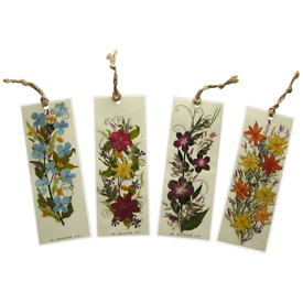 Floral Bookmark - Available with Flowers on 1 side or 2 sides Made by Woman Artisans in El Salvador Measures: 6 in long x 2-1/4 in wide
