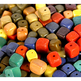 Tagua Cube Beads from Ecuador Available in many colors - 7mm