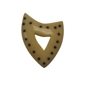 Tagua Shield Pendant 2'' tall x 1-3/4'' wide Handmade by Artisans in South America