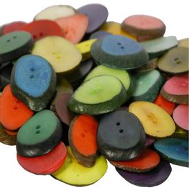 Tagua Slice Buttons Handcrafted by Artisans in Ecuador