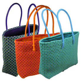 Recycled Plastic Totes from India