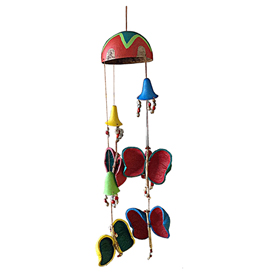 Butterfly Gourd Mobile from Colombia Measures 33'' long x 6'' wide x 6'' diameter