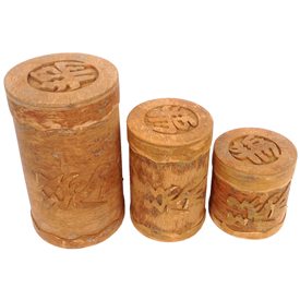 Cinnamon Bark Boxs w/ Dragon crafted by Artisans in Vietnam