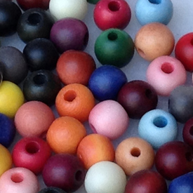 Mixed Tagua Nut Round Beads 9mm w/ 2.3mm hole - Available in many colors
