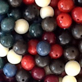 Mixed Tagua Nut Round Beads 7mm w/ 1.5mm hole - Available in many colors