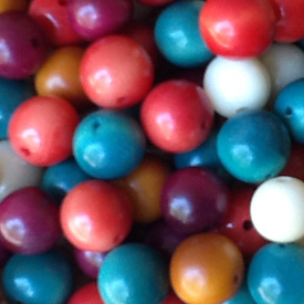 Mixed Tagua Nut Round Beads 9mm w/ 1.5mm hole - Available in many colors
