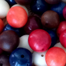 Mix Tagua Nut Round Beads 12mm w/ 1.5mm hole - Available in many colors