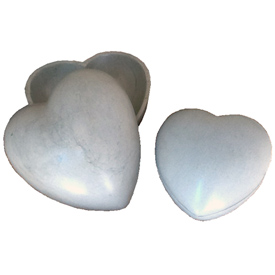 White Soapstone Heart Box Crafted by Artisans in Haiti